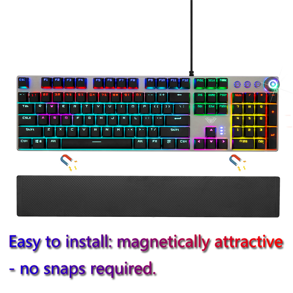 AULA Gaming Mechanical Keyboard 104 Keys Wired Backlit Metal Anti-ghosting for Computer PC With English Russian Spanish Arabic