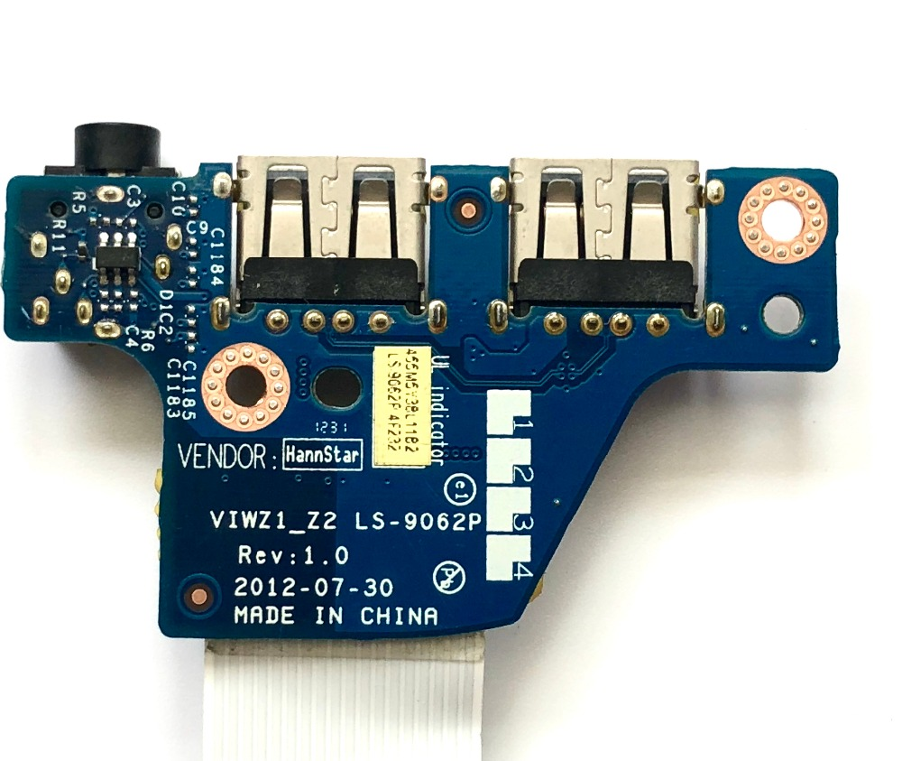 Original For Lenovo Z400 Z500   Usb  Audio PCBA Board  VIWZ1 _Z2   LS-9062p REV 1.0 100% Tested Free Shipping