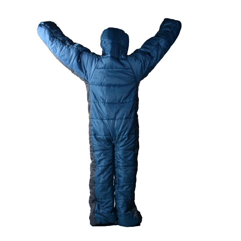 Mummy Style Keep warm Humanoid shape Sleeping Bag Camping Comfortable lazy prevent a cold Sleeping bag-in Sleeping Bags from Sports & Entertainment    1
