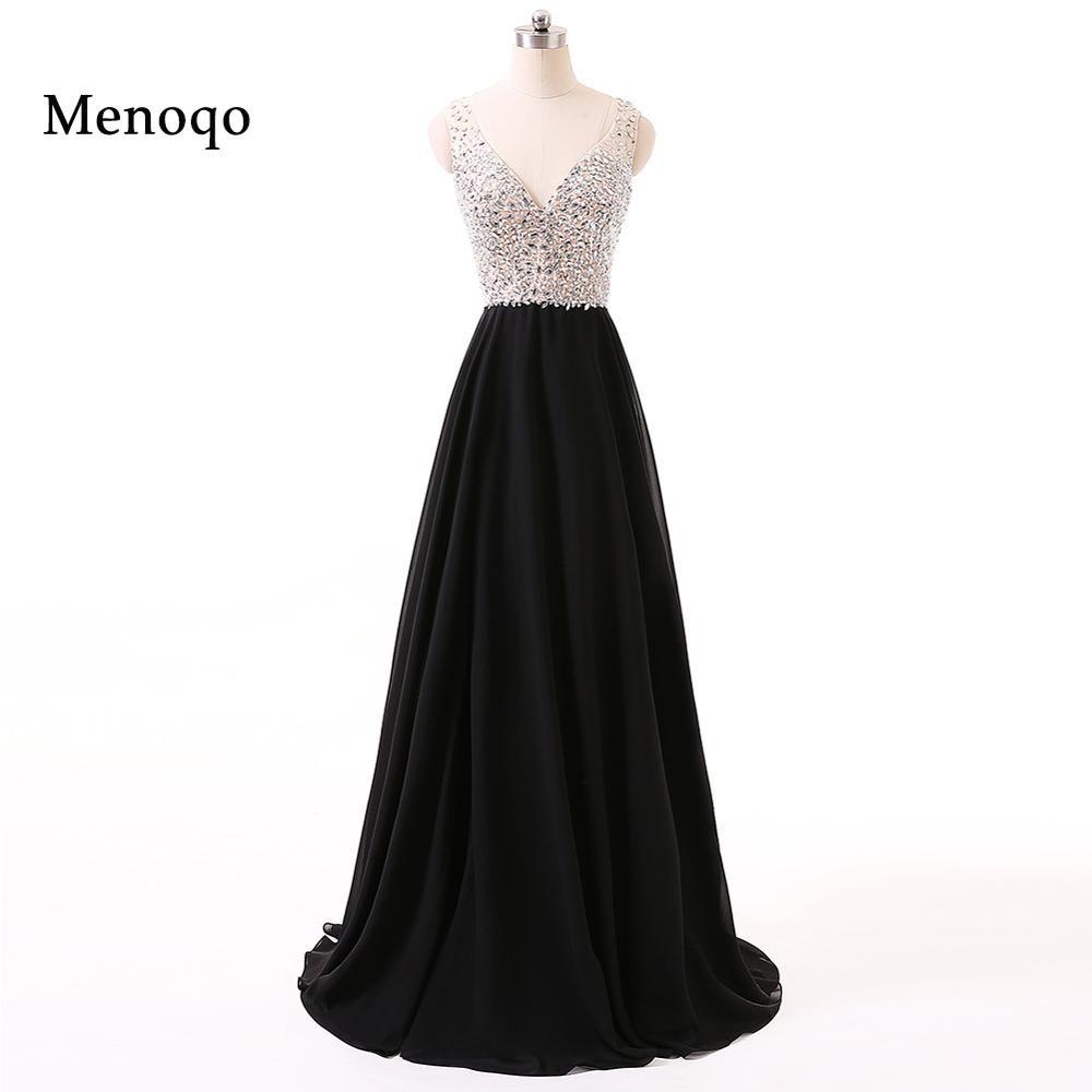 Menoqo Women Long   Evening     Dresses   See Through Robe de Soiree Longue Chiffon Summer   Evening   Gowns Formal Party   Dress