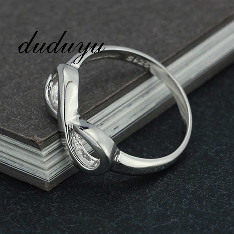 Fashion Women Engagement Ring Finger Number 8 Sliver Color Simple Rings Exquisite Small Jewelry Accessories 5/6/7/8/9/10 Size
