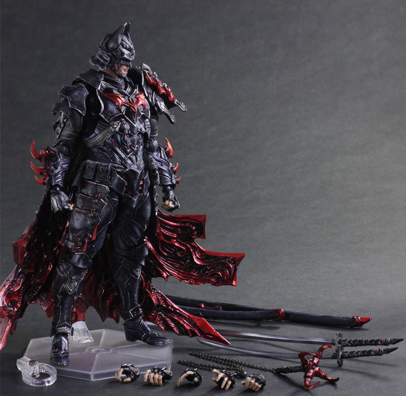 Batman Figure Timeless Bushido BAT Play Arts Kai Variant Play Art KAI PVC Action Figure Bat Man Bruce Wayne 25cm Doll Toys the avengers infinity war batman arkham knight play arts kai 27cm bruce wayne dc comics pvc action figure model toys l1060