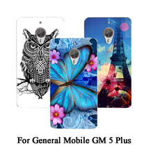 Fashion Popular phone Cover For General Mobile GM 5 Plus Case DIY Painting Rose owl cat phone case For General Mobile GM 5 Plus