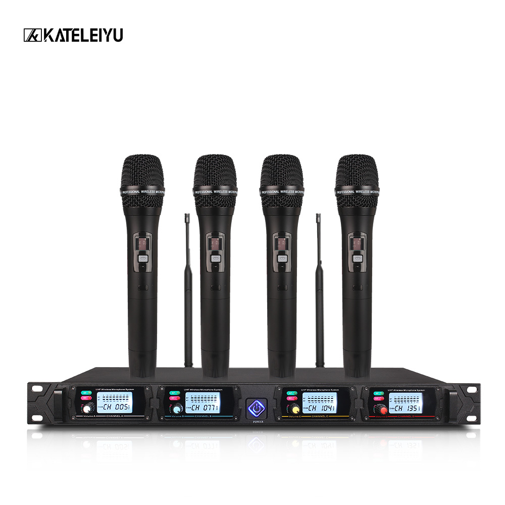 Wireless Microphone System 8000GT Professional UHF Channel Dynamic Microphone Professional 4 Karaoke Microphone Stage microphone long distance signal receiving dual channel handhold professional uhf wireless microphone high sensitivity karaoke megaphone kit