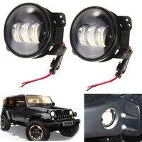 2 pcs 4 inch Motorcycle LED fog lights Bulb led fog lamp for JEE P Wrangler JK Dodg e Magnum