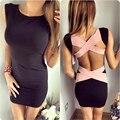 Горячая продажа женщины оболочка dress lady спинки короткие сексуальные Повязку dress Summer party bodycon dress vestidos женская одежда XD3903