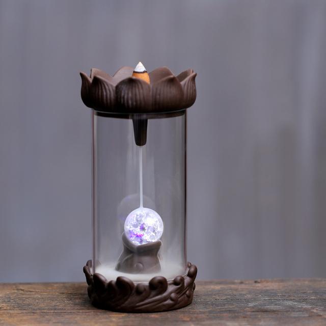 Backflow Glass Incense Burner