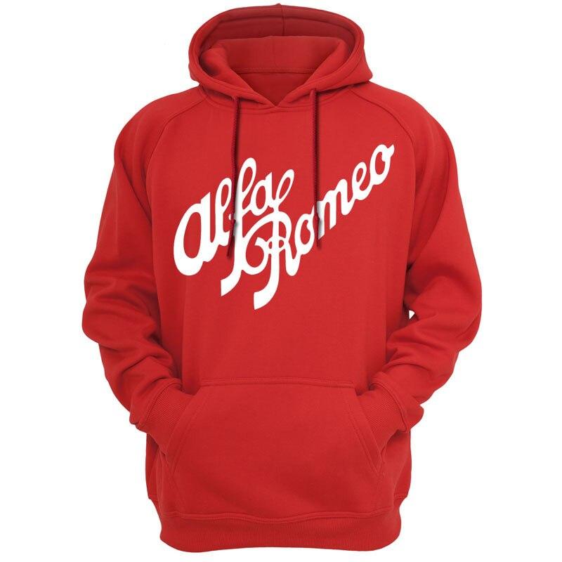 Alfa Romeo Script In RED Hoodies Sweatshirts Hooded Hoody Men Unisex - Alfa romeo apparel