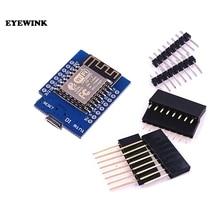 10 takım D1 mini   Mini NodeMcu 4M bayt Lua WIFI şeylerin Internet kalkınma kurulu tabanlı ESP8266 için weMos