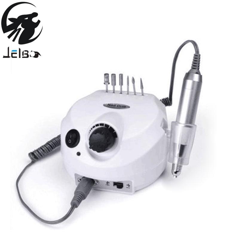 Jelbo 35000RPM Pro Electric Nail Drill File Bit Machine Manicure With Upgraded Version Silicone Case Anti-scald Handle Manicure 9pcs set electric manicure professional drill nail file bit manicure machine electric file 26000rpm includes 6pcs nail drill