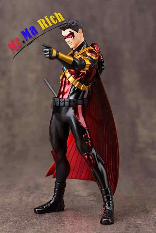 Artfx + Estátua Dc Super Hero Red Robin 1/10 Scale Pré-pintado Pvc Action Figure Collectible Modelo Crianças Brinquedos boneca 18 cm