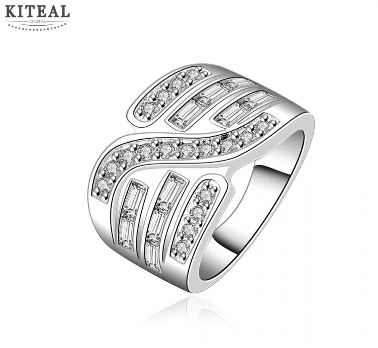 Fashion Design 925 Stamp silver color rings silver plated small ...