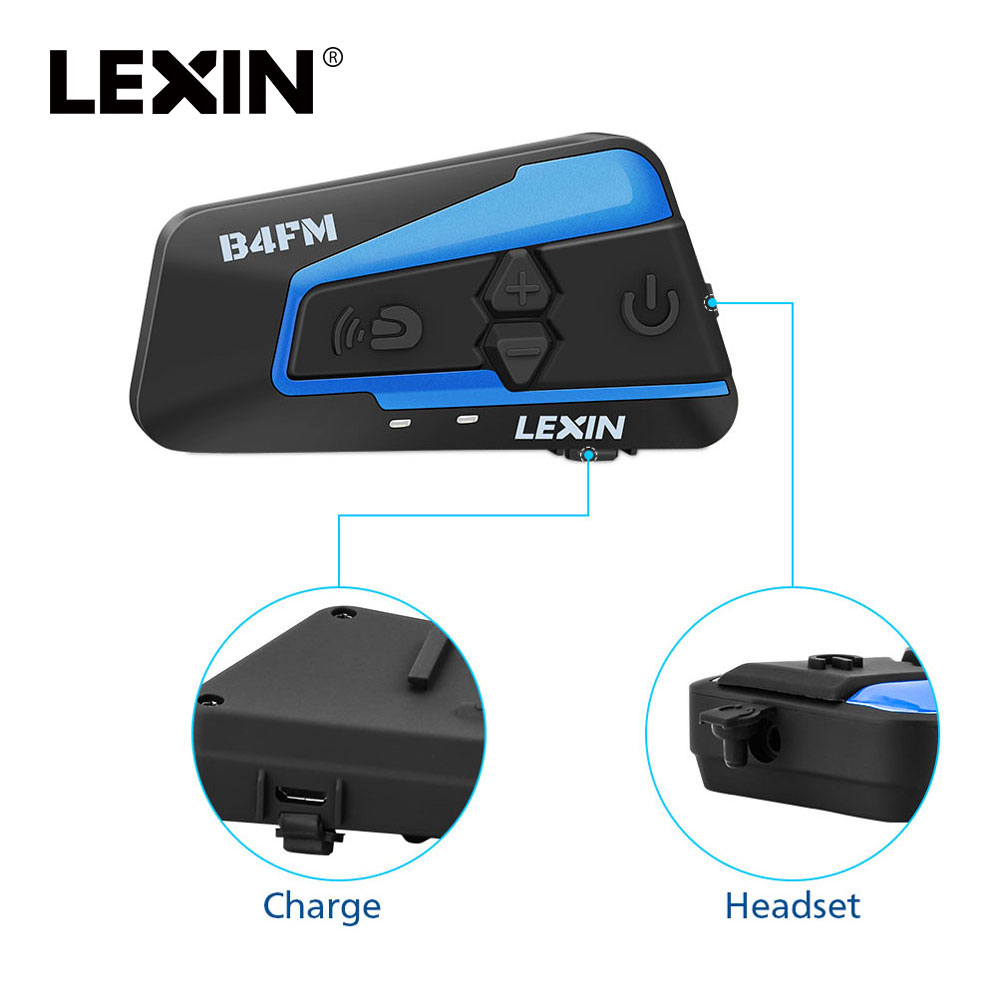 Lexin 1 PCS 1500 M 4 Maneiras Multi-função de Intercomunicador Do Bluetooth Motocicleta Capacete a conversa de Grupo À Prova D' Água Fone de Ouvido com FM função
