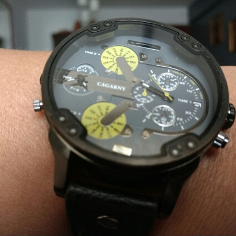 dual time zones military watch for men drop shipping sports watches (3)