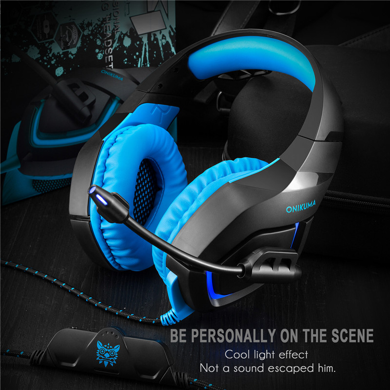 Vrme PC Gaming Headset for PS4 3.5mm Stereo USB LED Headphones with Microphone Volume Control for Computer  Laptop Mac For Phone hands free headphones usb plug monaural headset call center computer customer service headset for pc telephone laptop skype chat