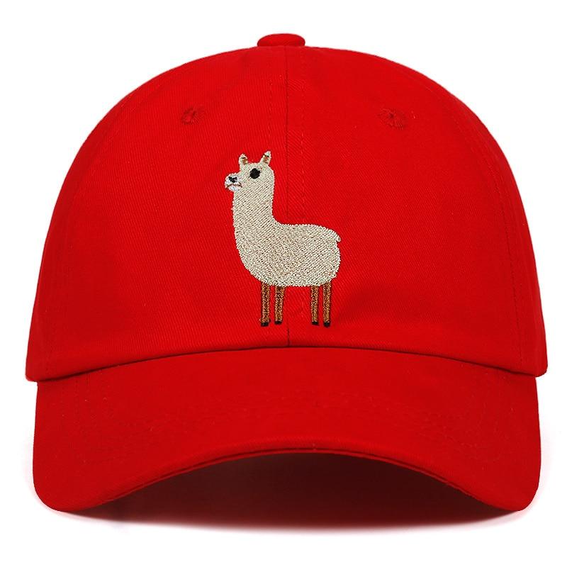 2018 Embroidery lovely Alpaca dad   cap   men women fashion   baseball     cap   classic casual cotton hat fashion peaked   cap   hats