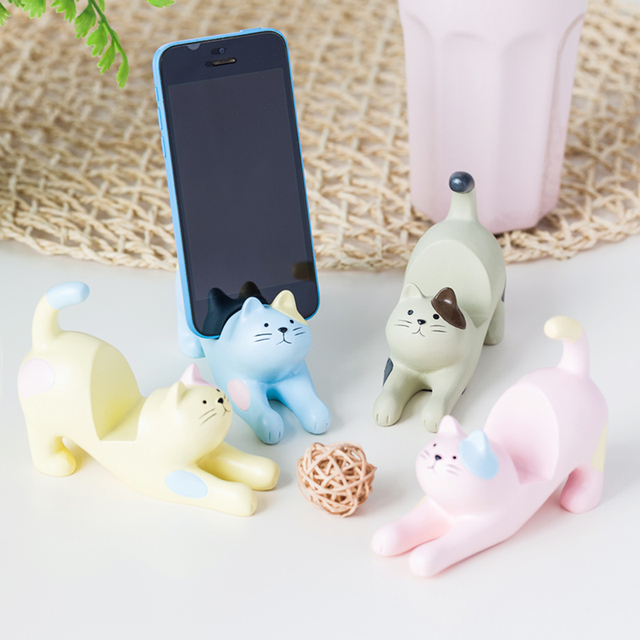 Cat Ornaments Desktop Home Resin Creative Crafts Animal Simulated Television Cabinet Mobile Phone