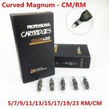 Box Von 20PCS 0.30/0,35 MM Premium Grau Tattoo Nadel Patronen Gebogene Runde Magnum 5/7/9/11/13/15/17/19/23RM