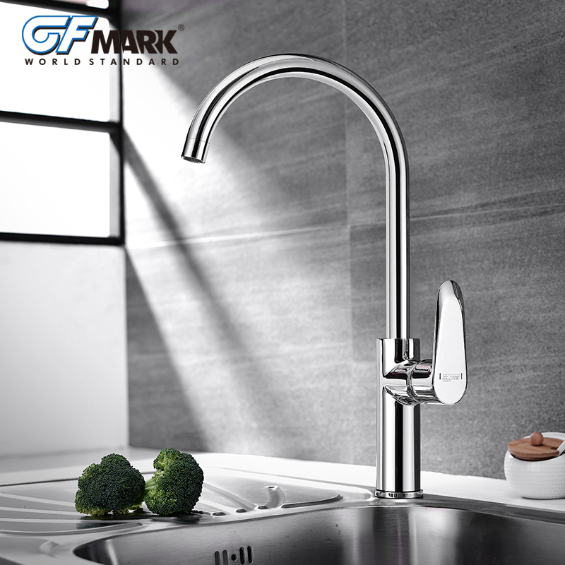 GFmark Kitchen Faucets Deck Mounted Crane For Sinks Brass Taps ...