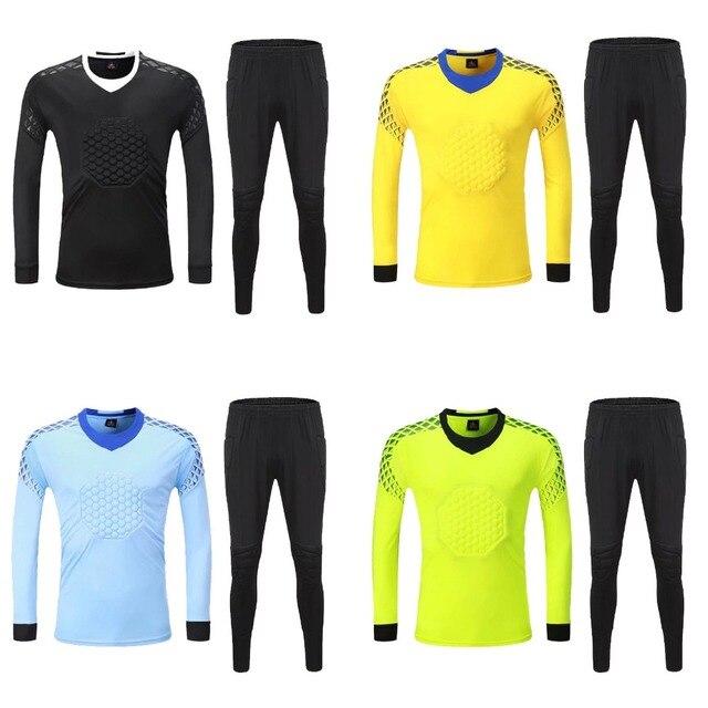 2c4cc3c79dc Men long sleeve Goalkeeper Soccer Sets, Mens Doorkeepers Football Shirt, Man  Goal Keeper Jersey