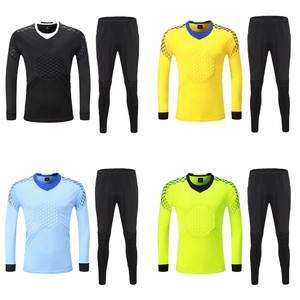 14c0fe69c60 L-3XL Men long sleeve Goalkeeper Soccer Sets Man Goal Keeper Jersey