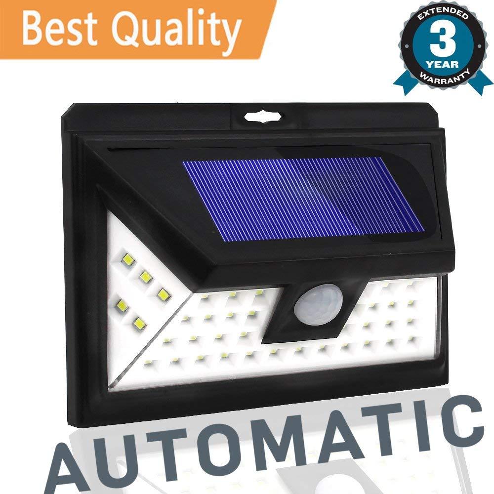 3Mode 44LEDs LED Solar Light Outdoor Waterproof Garden PIR Motion Sensor Solar Power LED Wall Light Emergency Solar Lamp Pathway