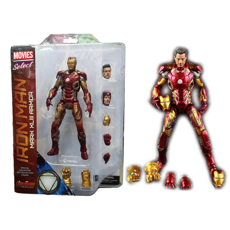 Image 4 - New Hot TheAvengers IronMan Action Figure Model 18 20cm MK42 MK43 Iron Man Doll PVC ACGN figure Toy Brinquedos Anime kids Toys-in Action & Toy Figures from Toys & Hobbies
