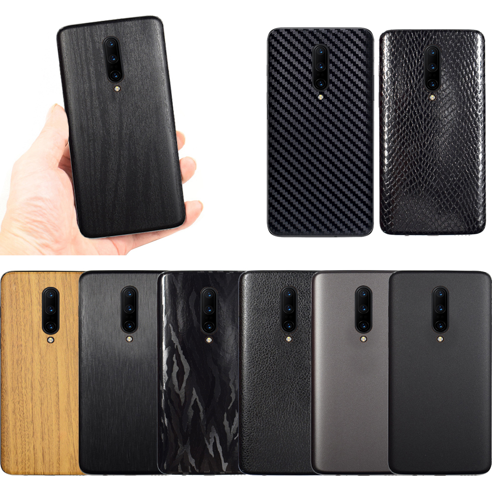 <font><b>3D</b></font> Carbon Fiber Sticker For <font><b>OnePlus</b></font> 7 Pro Leather / Wood Skins Protective Phone Back Cover Sticker For <font><b>OnePlus</b></font> 6T 1+<font><b>6</b></font> Sticker image