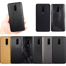 3D Carbon Fiber Sticker For OnePlus 7 Pro Leather / Wood Skins Protective Phone Back Cover Sticker For OnePlus 6T 1+6 Sticker(China)