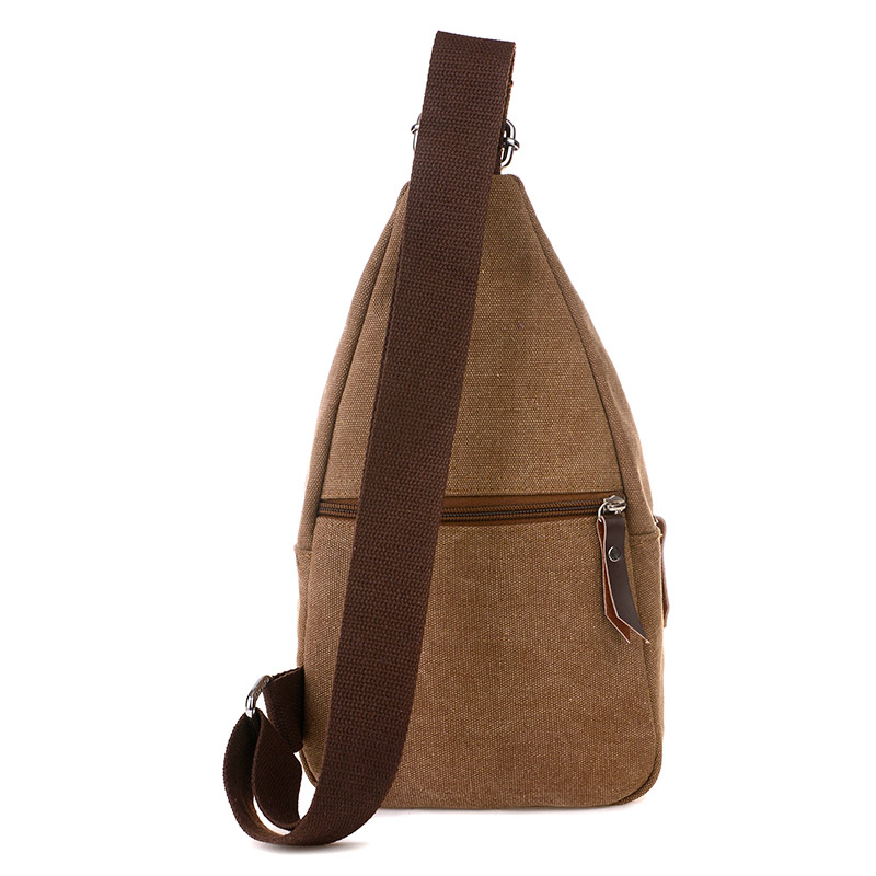 Men Daily Clutch Vintage Messenger Bag Casual Travel Rucksack Chest Bag Canvas Solid Crossbody Fanny Shoulder Back Pack bolsas
