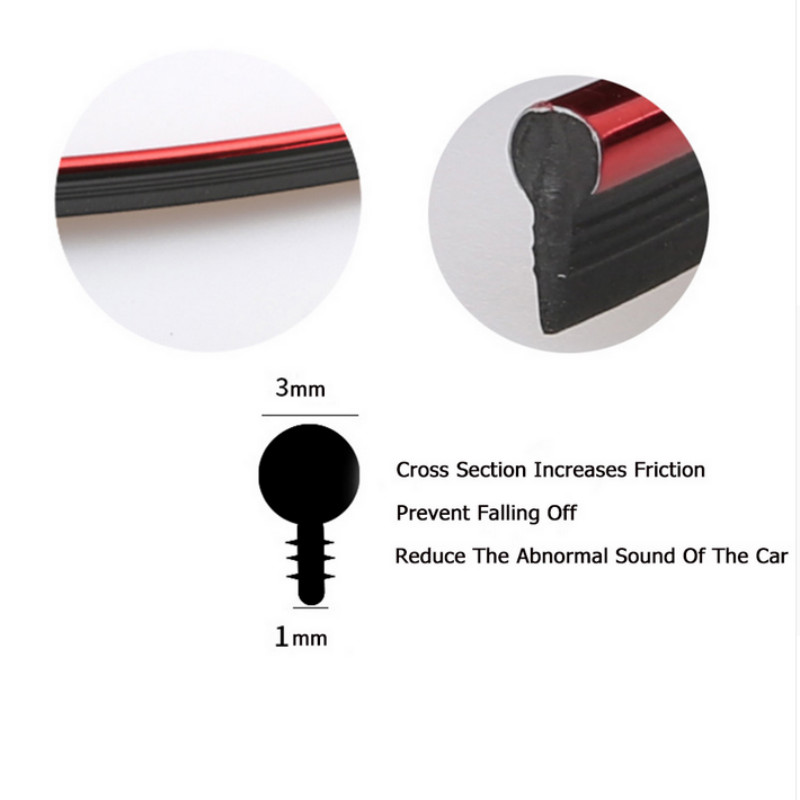 Image 3 - Car Styling Interior Accessories Strip Sticker For Nissan Qashqai j11 Juke X trail Tiida Note Almera Primera Pathfinder Teana-in Car Stickers from Automobiles & Motorcycles