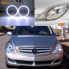 Для Mercedes Benz R Class W251 R350 R500 R320 R63 2006-2010 галогенная фара отличный ультра яркий COB комплект светодиодов «глаза ангела»