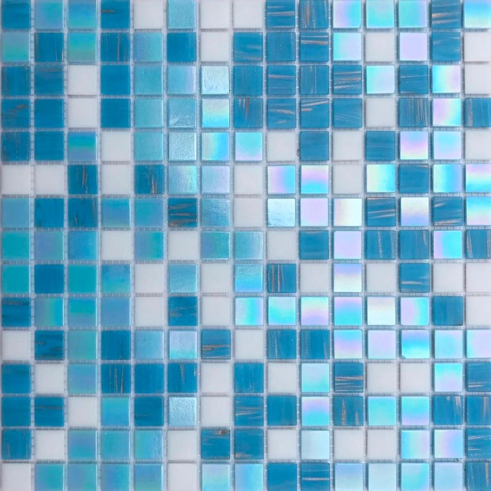 Schillernden Mittelmeer Blau Weiß Glas Mosaik Fliesen Für Küche Back Bad  Wand Fliesen Aufkleber Freies
