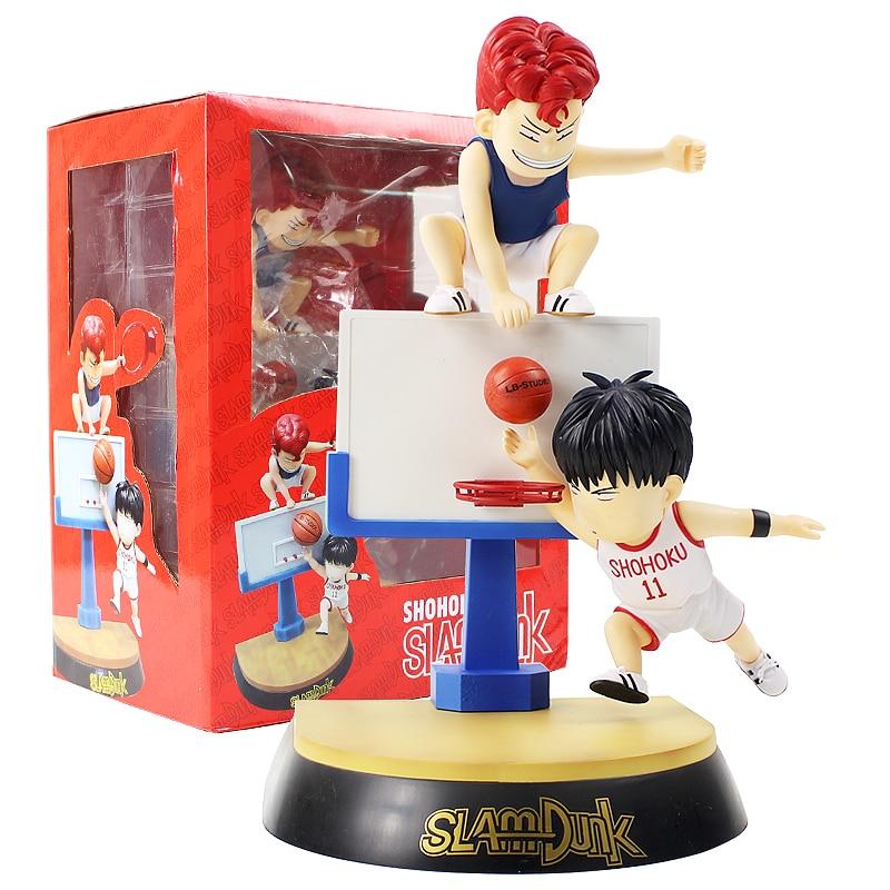 Slam Dunk Hanamichi Sakuragi & Rukawa Kaede PVC Figure Collectible Model ToySlam Dunk Hanamichi Sakuragi & Rukawa Kaede PVC Figure Collectible Model Toy