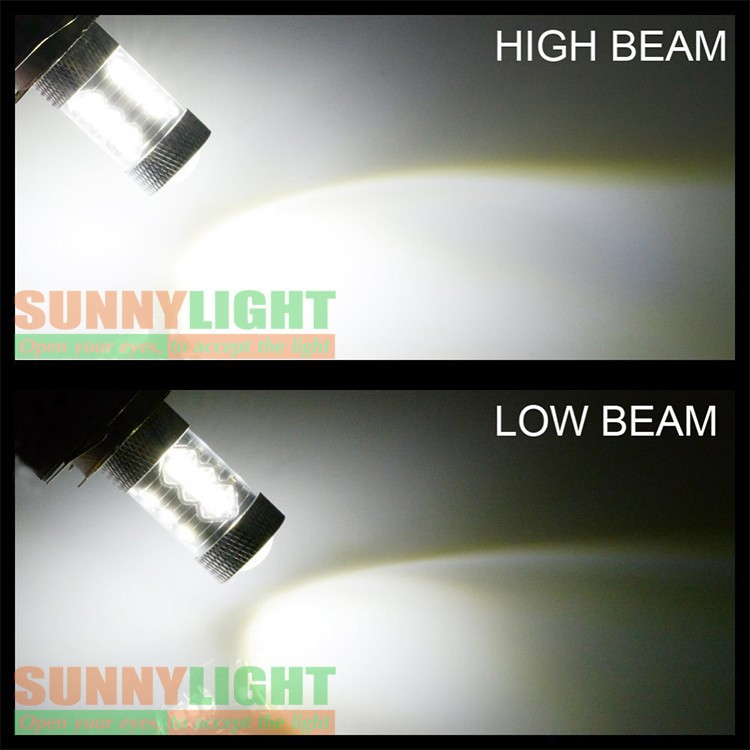 High Quality Only H8 H11 LED 80W High Power CREE Bulb For Automobile Head Light With Lens Xenon White Car DRL Fog Lights (2)