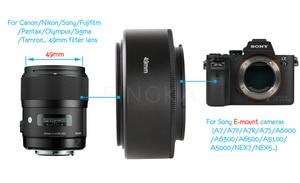 Image 5 - 금속 nex49/52/55/58/62/67/72mm 카메라 매크로 렌즈 리버스 어댑터 확장 튜브 소니 a6400 a6300 a5100 a5000 a7 ii a7r nex7