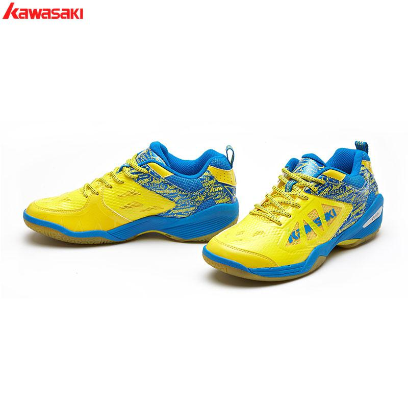 2017 Original Kawasaki  K-337 Series Rubber Badminton Shoes For Men And Women Sports Shoes Breathable