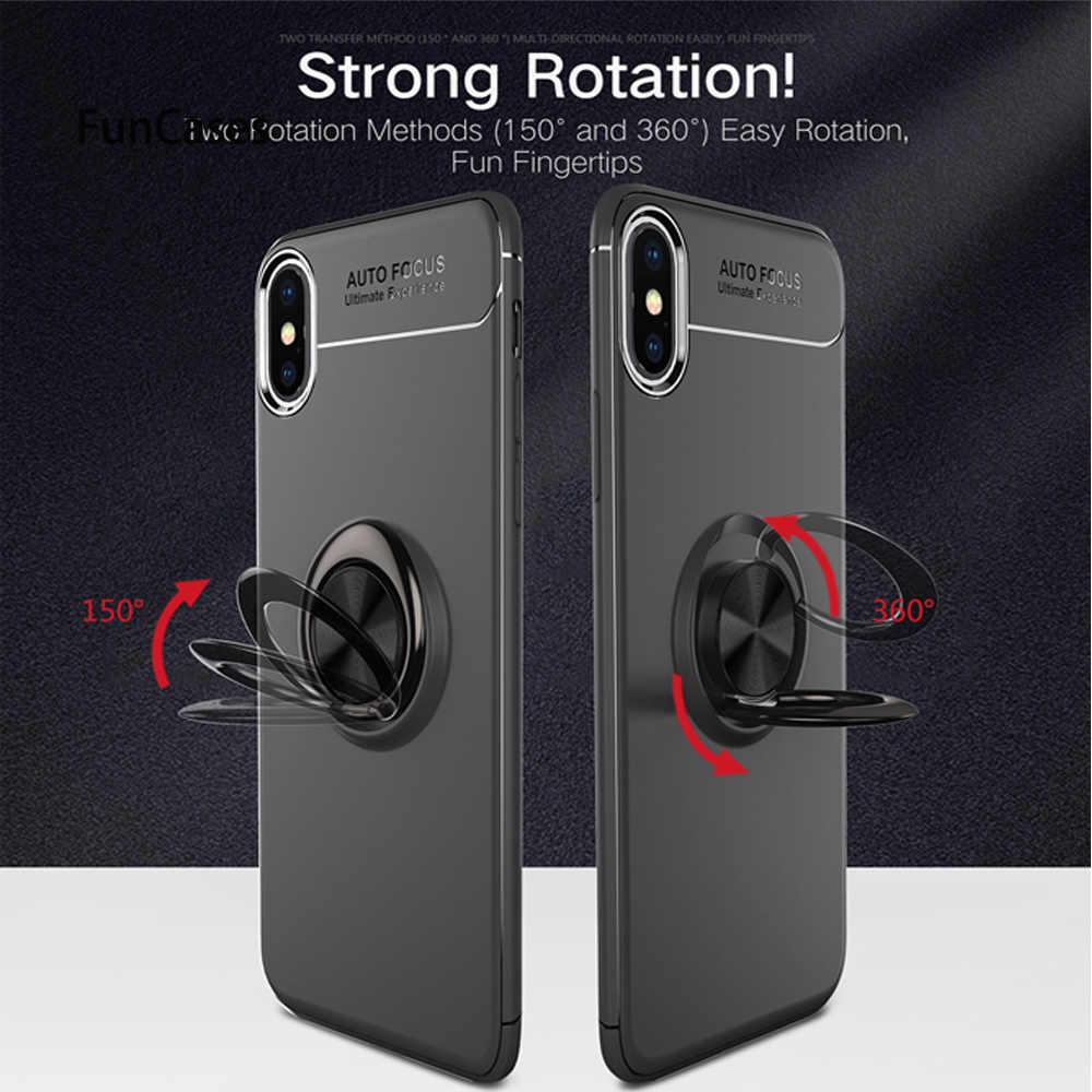 Caso de Huawei P20 caso Lite-Huawei P10 Lite P30 funda de silicona anillo magnético Original para Huawei P30 pro P20 P10 Plus