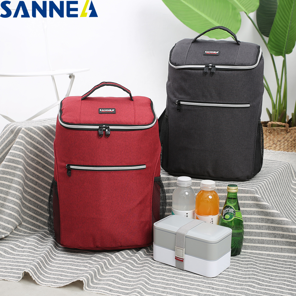 SANNE 20L Thicken Waterproof Cooler Bag Thermal Insulated Ice Bag Fresh Keeping Backpack Style Thermal Bag Insulation Ice Pack image