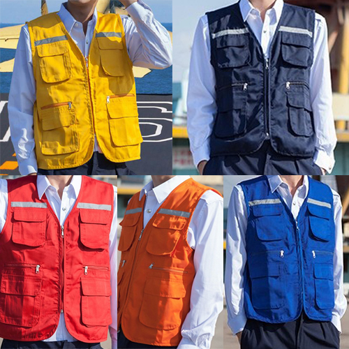 High Quality Multi Pockets Work Vest Fishing Hunting Camping Hiking Outdoor Casual