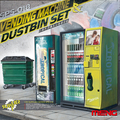 New arrival! MENG MODEL 1/35 SPS-018 Vending Machine & Dustbin Set plastic model kit