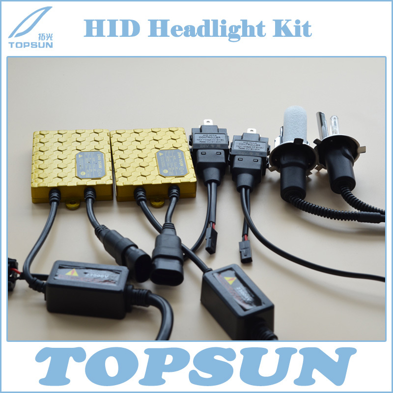 Free Shipping 24V 55W HID Xenon Headlight Conversion Kit Ballast and H4 Swing Angle Xenon Bulb 1 set h4 9003 headlight hid xenon bulb wire harness connector relay fuse black h4 headlamp connector conversion kit