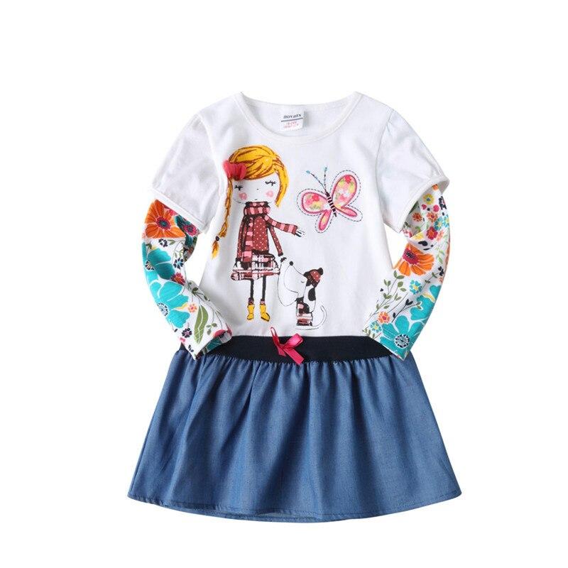 NOVATX hot selling baby meisje jurk katoen kinderen herfst dragen - Kinderkleding - Foto 3