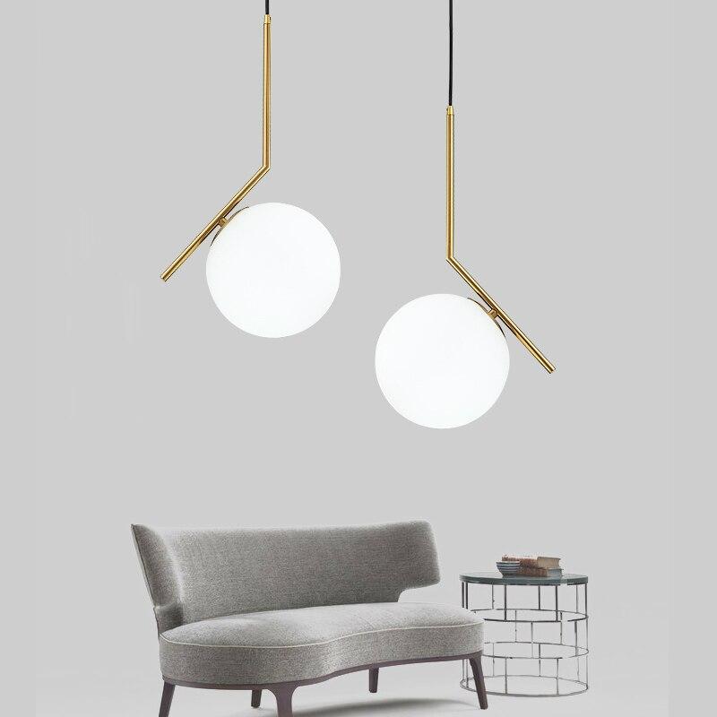 Post moderne kreative glaskugel anhänger leuchte norbic kurze hause ...