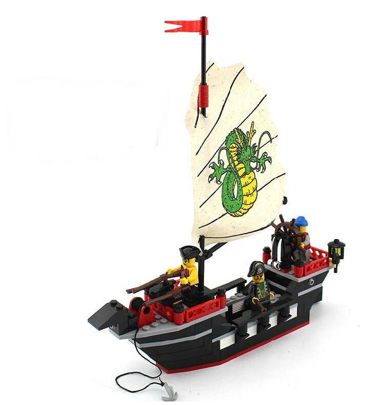 Enlighten 301 New 211pcs Pirate Series Pirate Ship Dragon Boat Model - Կառուցողական խաղեր - Լուսանկար 4