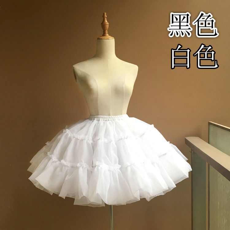 white black WOMEN GIRL Tulle Skirt Elegant Pleated Tutu Skirts Womens Vintage Lolita Petticoat faldas mujer Saias Jupe