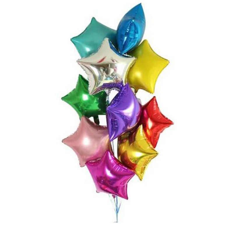 6 個バレンタインデーグロボス結婚式 18 インチハート箔風船スター誕生日パーティーの装飾ヘリウムバルーンパーティー用品