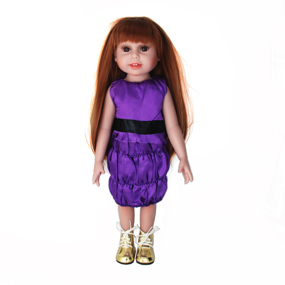 NicoSeeWonder 18 Inch Bonecas Bebe Reborn Baby Dolls Full Silicone Reborn Toddler Toys Girl With Purple Dress Kit For Gift 23 silicone reborn girl dolls toys bebe princess reborn purple dress rooted hair newborn baby toddler dolls gifts for child