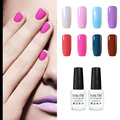 Belle Fille Gel Nail Polish UV Gel Polish Bling French Manicure Varnish Soak Off UV LED Rose Red Color Lacquer for Dating Makeup