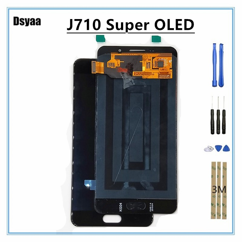 5.5 Inch Super Oled for Samsung for Galaxy A7 2016 A710 A7100 LCD Display with Touch Screen Digitizer Assembly5.5 Inch Super Oled for Samsung for Galaxy A7 2016 A710 A7100 LCD Display with Touch Screen Digitizer Assembly